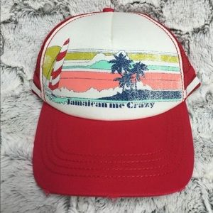 Jamaican Me Crazy Trucker Beach Cap Hat Palm Tree
